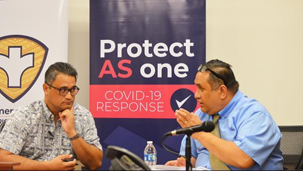 Lt. Talauega Eleasalo Ale and the Attorney General Fainuulelei