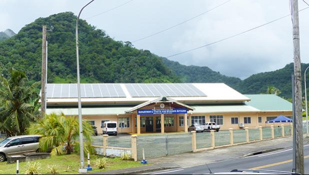 Department of Youth and Women's Affairs (DYWA) building in Pago Pago