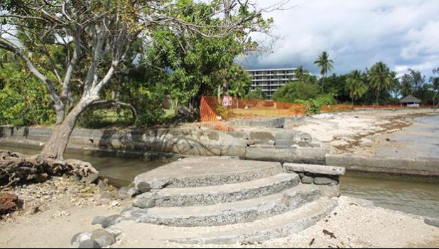 """The planned construction site of a tourism complex named """"Mahana Beach"""",15 km south of Papeete, in French Polynesia, on July 19, 2014. [Photo: AFP via RNZI]"""