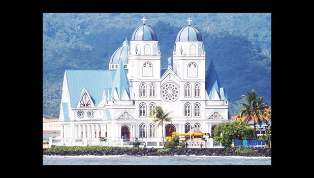 Catholic Cathedral in Apia in Samoa  [photo: RNZI/ Autagavaia Tipi Autagavaia]