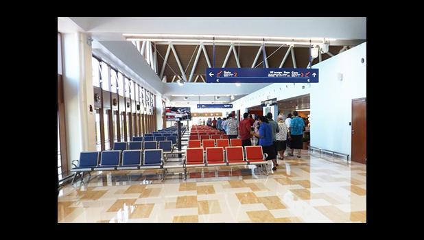Samoa's Faleolo international airport's newly built departure lounge has been equipped with new technology [Photo: RNZI Autagavaia Tipi Autagavaia]]