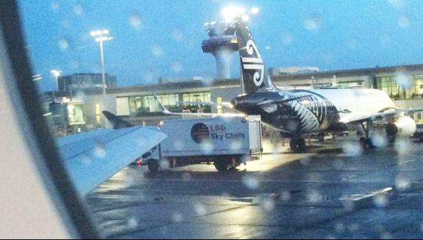 Air New Zealand plane parked up at Auckland Airport