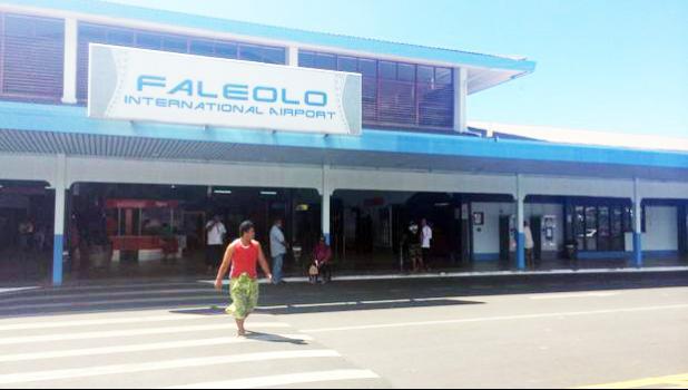 Faleolo Airport, Apia, Samoa.