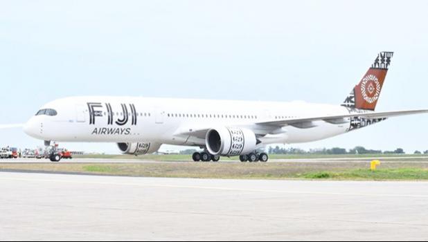 Fiji Airways plane on the tarmac
