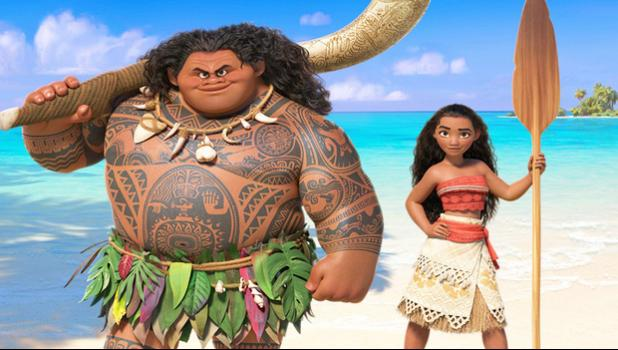 Maui and Moana: The Disney production missed out on the best animated film award. [Photo: Supplied via RNZI]