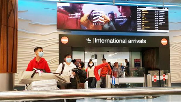Passengers arriving through International gate