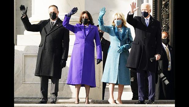 President-elect Joe Biden, his wife Jill Biden and Vice President-elect Kamala Harris and her husband Doug Emhoff