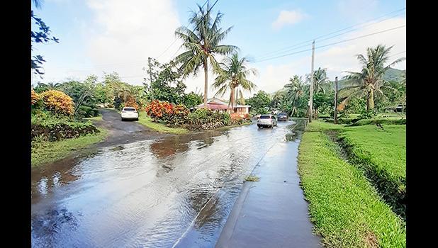 Fagaima Road flooding