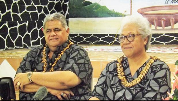 FAST leader Fiame Naomi Mata'afa (right) and deputy, Laauli Leuatea Polataivao Schmidt