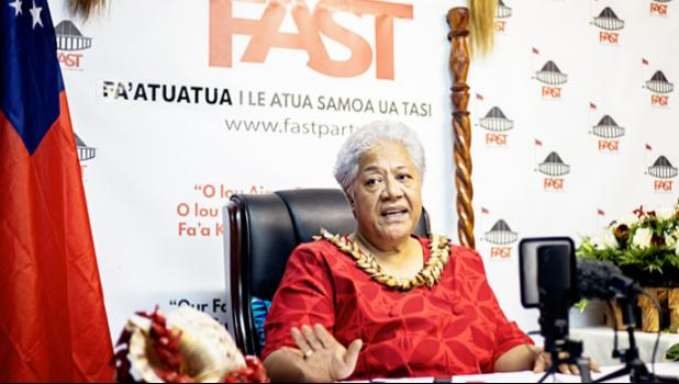 Fa'atuatua i le Atua Samoa ua Tasi (F.A.S.T.) leader Fiame Naomi Mataafa