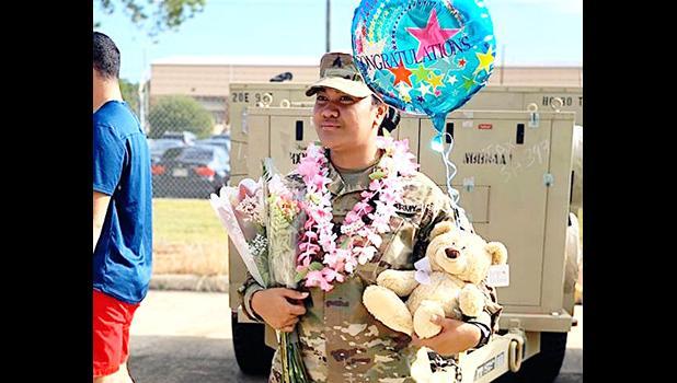 Newly promoted Sergeant Janice Leaso Fiso
