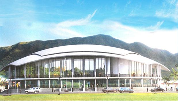 Rendering of the proposed new fono building.