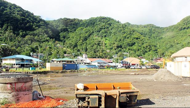 Site of the yet to be constructed new two-story Fono building in Fagatogo