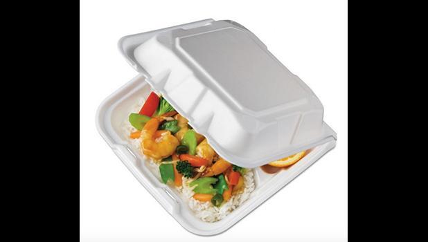 Food in a Styrofoam clamshell