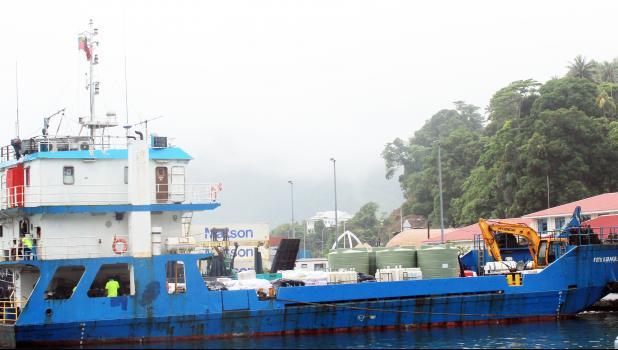 MV Fotu o Samoa II at the interisland dock in Pago harbor