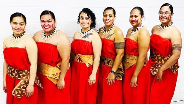 [l-r] SPC Faustina Fetalaiga, Latesha Carter, SGT Jackie Fruen, SFC Loloma Laban, Tupou Talaga and Lehualani Faaati Uluenga- Gillis.