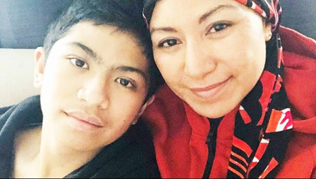Miriam Fuimaono and her son