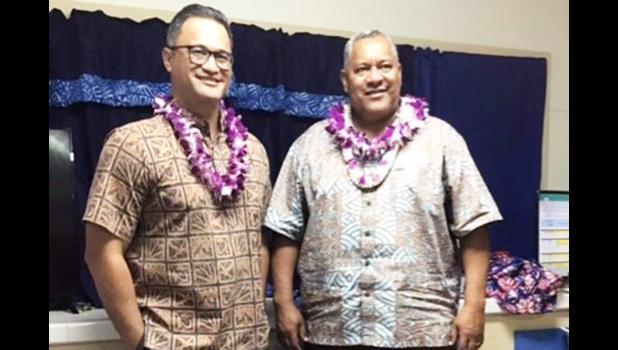Lt. Governor Talauega, pictured here with Gov. Lemanu