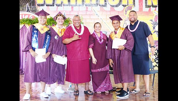 Governor, first lady and others at graduation ceremony