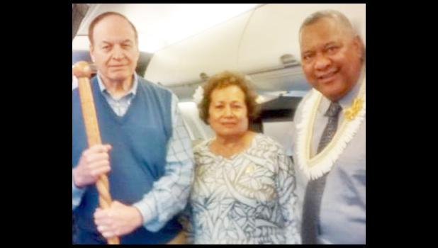 Governor Lemanu and Congresswoman Uifaatali with U.S. Senate Appropriations Committee Vice Chairman Richard Shelby