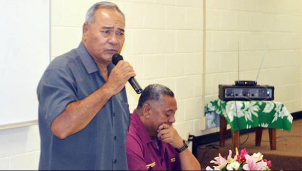 Gov. Lolo Matalasi Moliga and Lt. Gov. Lemanu Palepoi Sialega Mauga