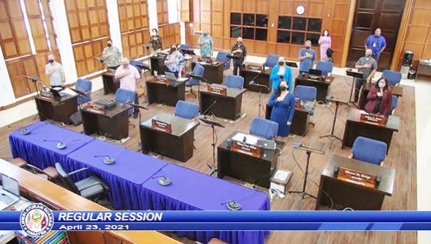 Guam Senate in session