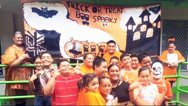 Laulii Elementary students wishing everyone happy and safe Halloween