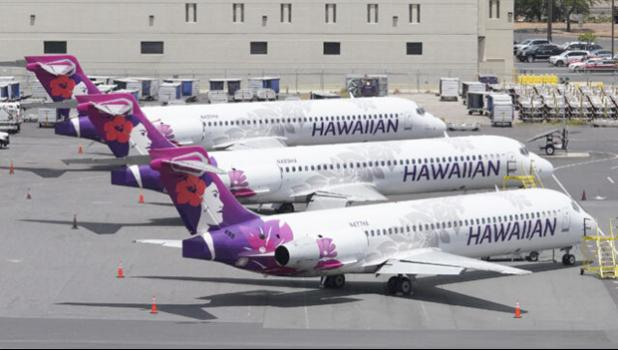 Hawaiian Airlines plane at HNL
