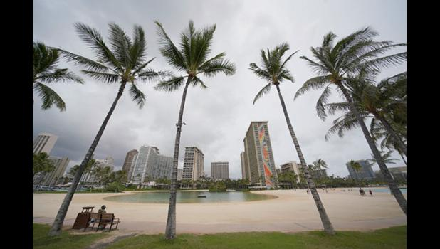 Lagoon at Hilton Hawaiian Village in Waikiki.