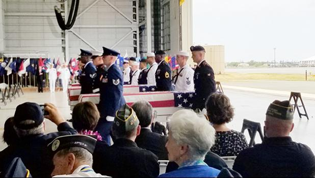 Honor Carry Ceremony at Joint Base Pearl Harbor-Hickam