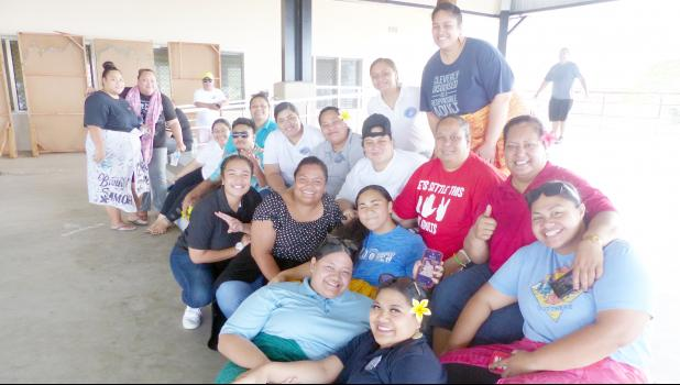 HR personnel at Nuuuli VocTech High during Adopt A School program