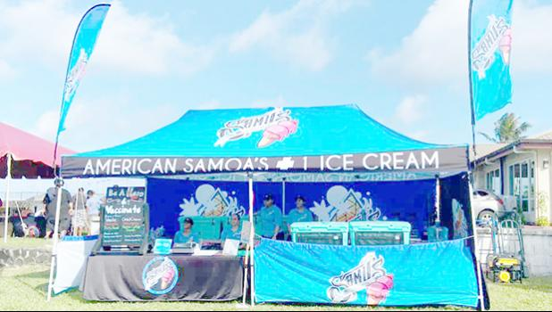 Samu's booth at Lions Park event