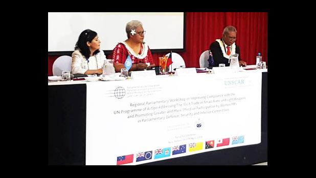 OPENING: Acting P.M. Fiame Naomi Mata'afa opened the meeting. [Samoa Observer]