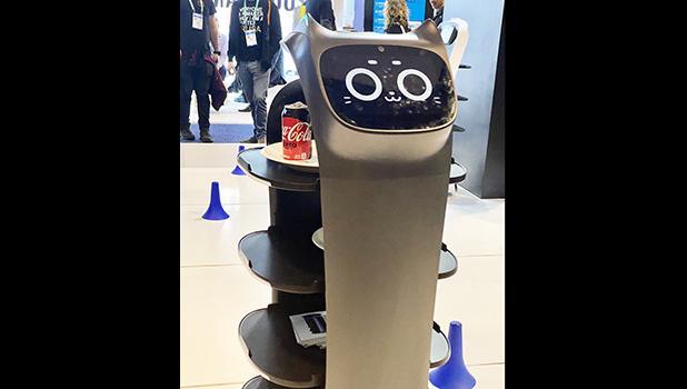 robot serving beverages