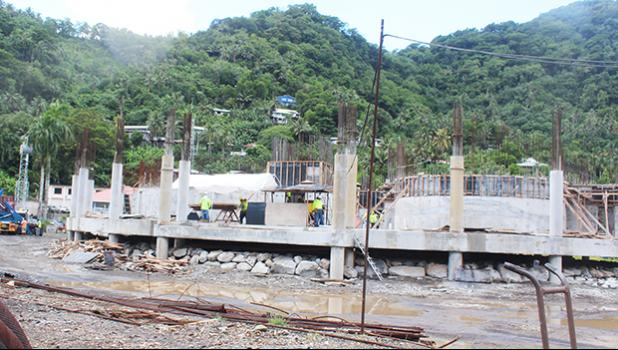 Work on fono building construction