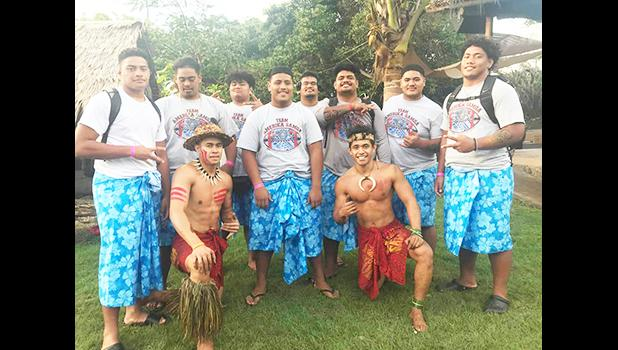 Some members of Team Amerika Samoa at Polynesian Cultural Center