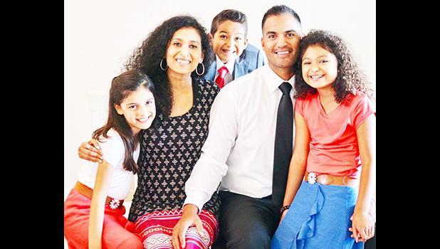 Justin Su'a, Melissa Su'a and children Jarom, Mya, and Eliana