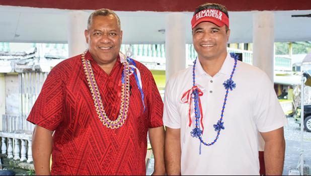 Lemanu Palepoi Sialega Mauga (left) and Talauega Eleasalo Ale