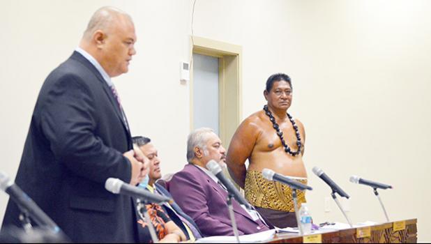 Ituau District Faipule Logoitaua Mark Atafua