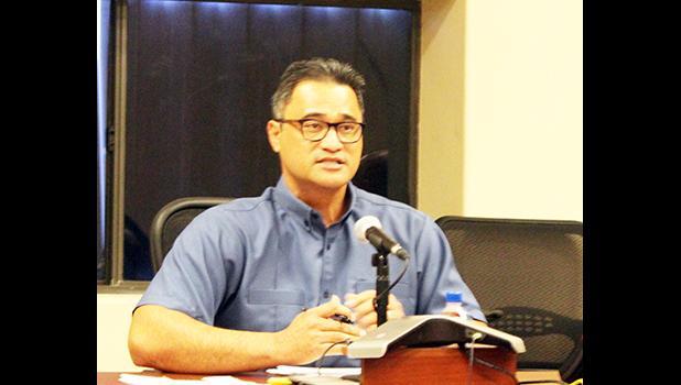 Acting Gov. Talauega Eleasalo i