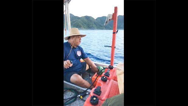 Captain of an alia making its way at sea.
