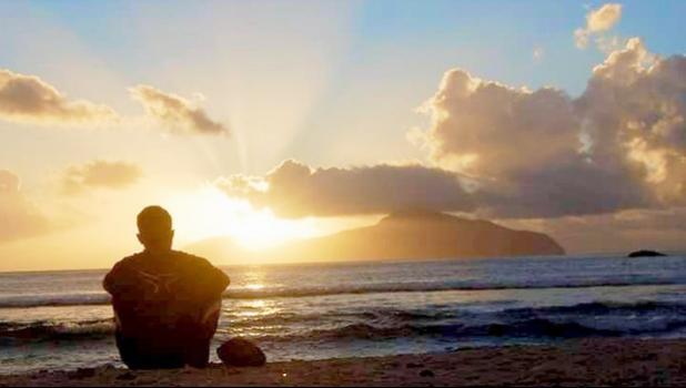 Boy on the beach in Manu'a Islands