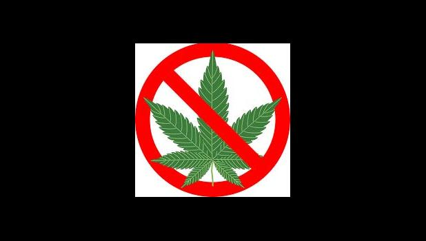 Just say no to marijuana logo