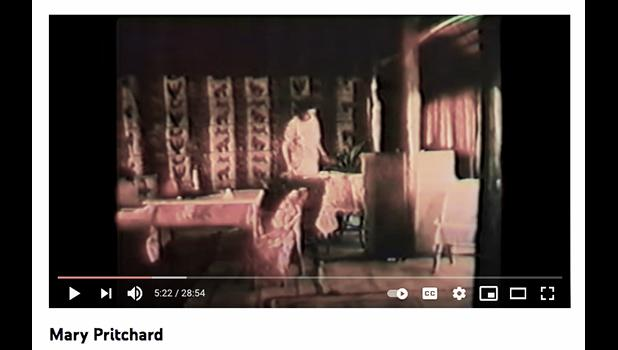 Screenshot from You Tube video of KZVK film for the 1970s