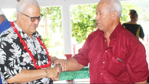 Paramount Chief Mauga Tasi Asuega and Uti Petelo