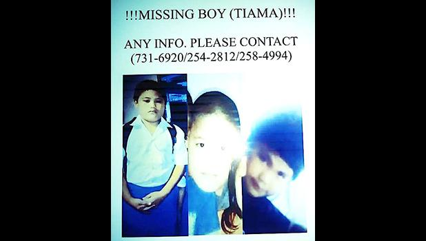 A look at the poster that was posted around the territory when Tiama went missing. He was found Monday morning, safe and unharmed.  [Courtesy photo]