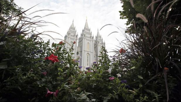 In this Sept. 14, 2016, file photo, the Salt Lake Temple, is shown