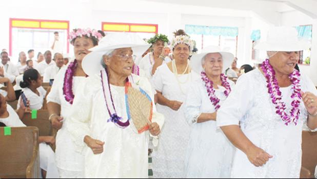 Mothers from the Ave o le Fetuao Methodist Church at Fagaima