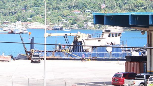 MV Sili at the dock in Pago Pago harbor.