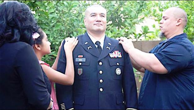 Noel Folasa Taeleifi Faiivae Iuli Godinet Chun with his wife, daughter and friend